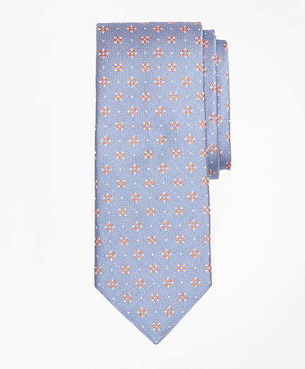 Textured Four-Petal Flower Tie