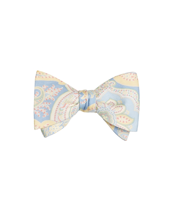 Paisley Print Bow Tie Blue