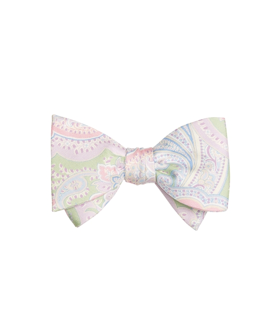 Paisley Print Bow Tie Green