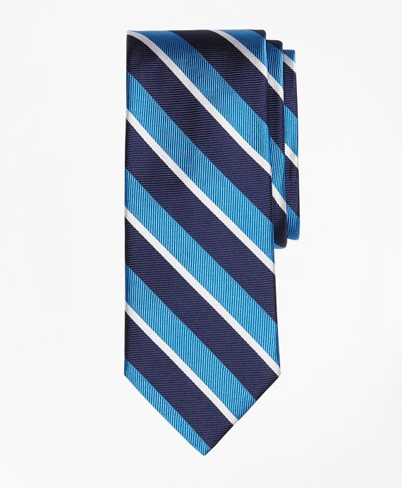 Tonal Sidewheeler Stripe Tie Blue