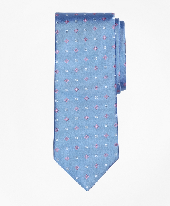 Mini Dot And Flower Tie by Brooks Brothers