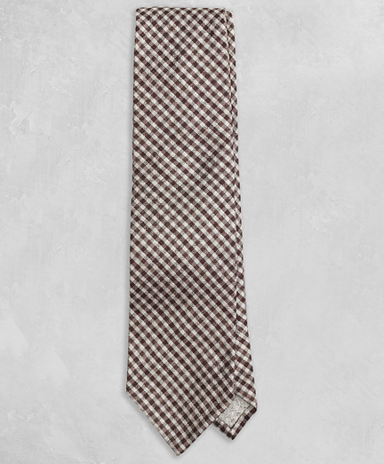 Golden Fleece® Brown Gingham Tie
