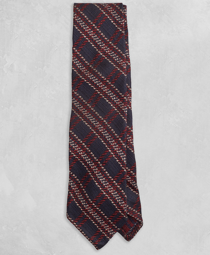 Golden Fleece® Navy and Burgundy Plaid Tie
