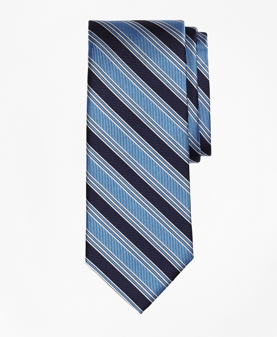 Split BB#1 Stripe Tie Blue