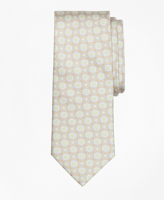 Ancient Madder Print Tie Brown