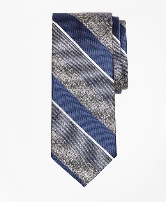 Multi-Weave Triple Stripe Tie Blue