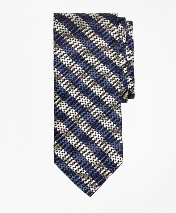 Textured Stripe Tie Blue