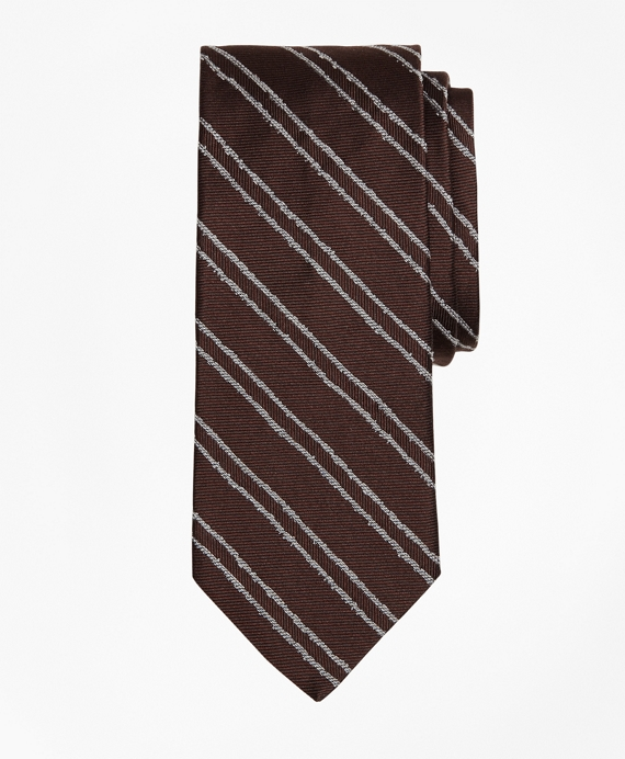 Vintage Twin Stripe Tie Brown