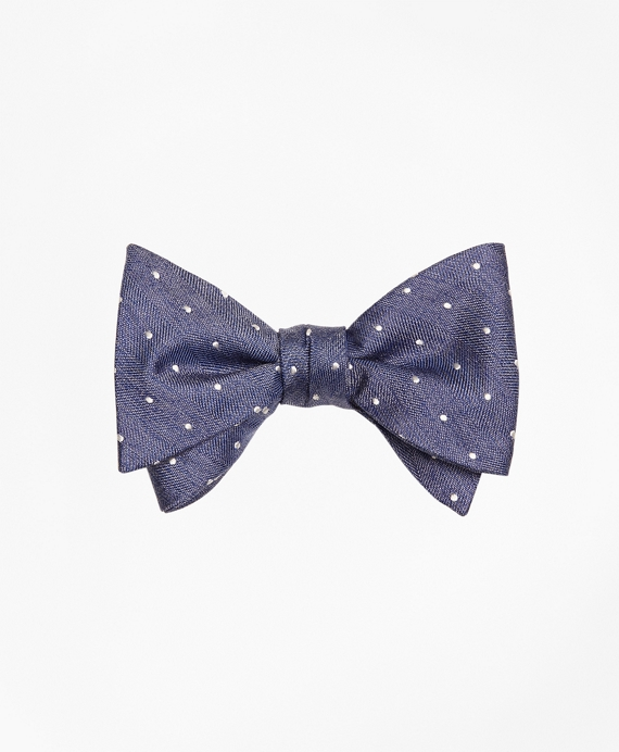 Heathered Dot Bow Tie Blue