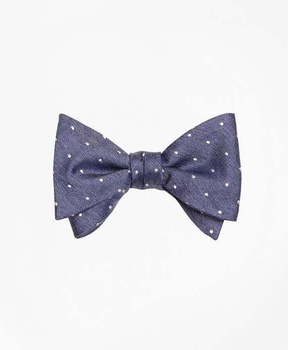 Heathered Dot Bow Tie Blue
