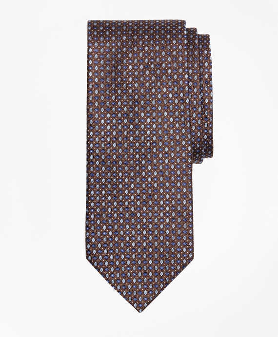 Small Alternating Flower Tie Brown