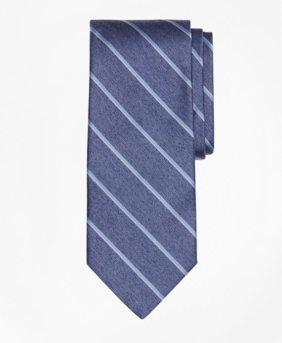 Heathered Sidewheeler Stripe Tie Blue