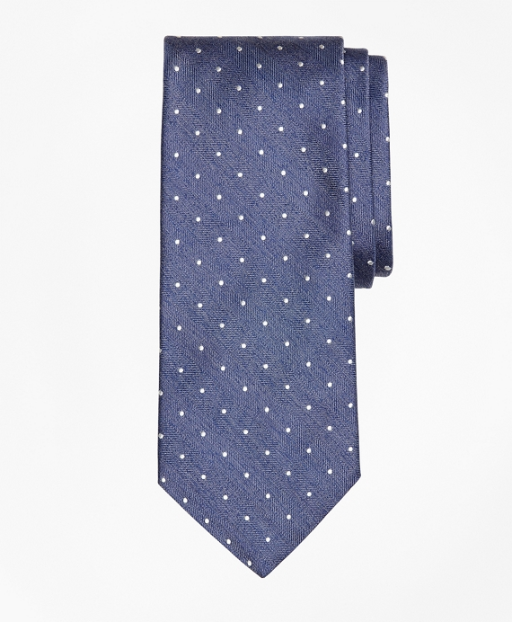Heathered Dot Tie Blue