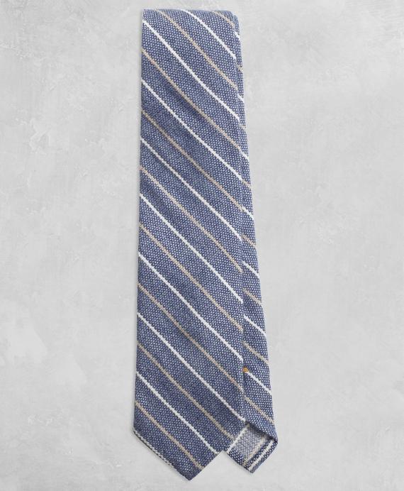Golden Fleece® Two-Tone Stripe Tie Blue