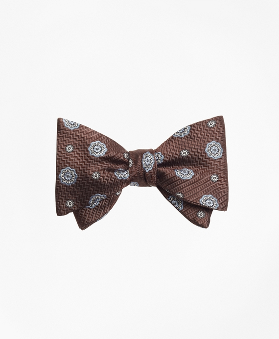 Spaced Medallion Bow Tie Brown