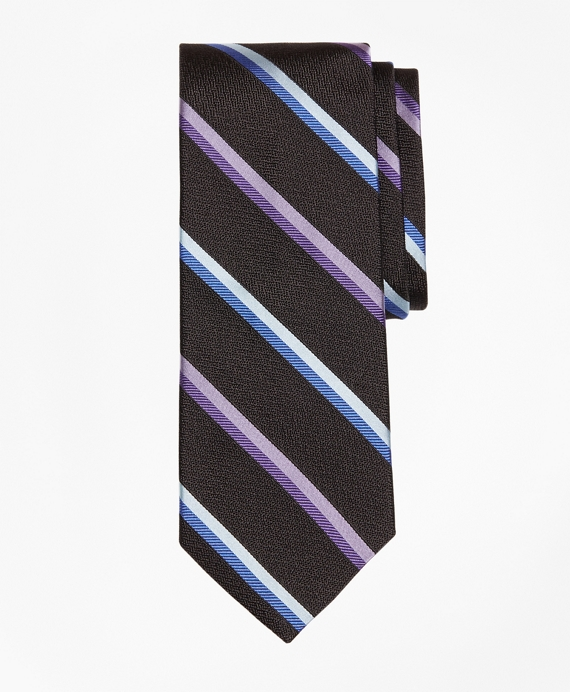 Alternating Sidewheeler Stripe Tie Black