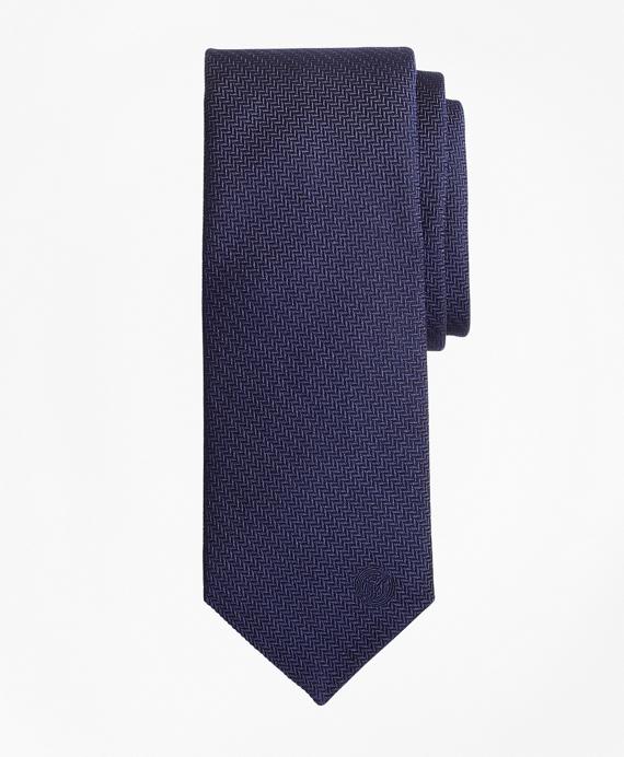 FC Internazionale Milano Herringbone Silk Tie Navy