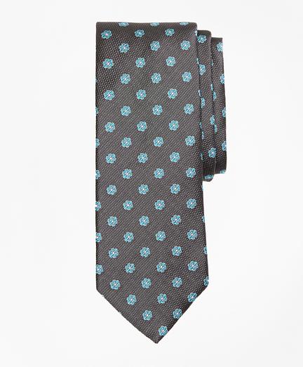 Textured Framed Flower Tie