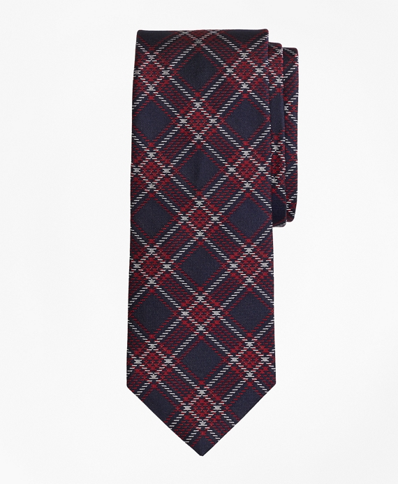 Plaid Tie Red