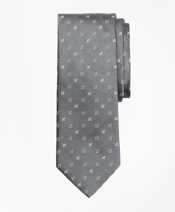 Four-Petal Flower Tie Grey