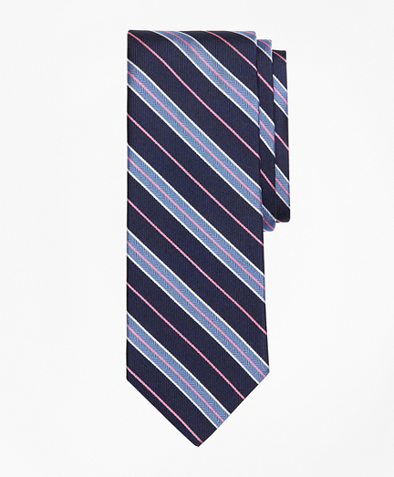 Herringbone Split Stripe Tie