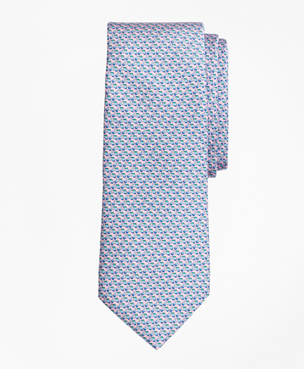 Scooter Motif Print Tie
