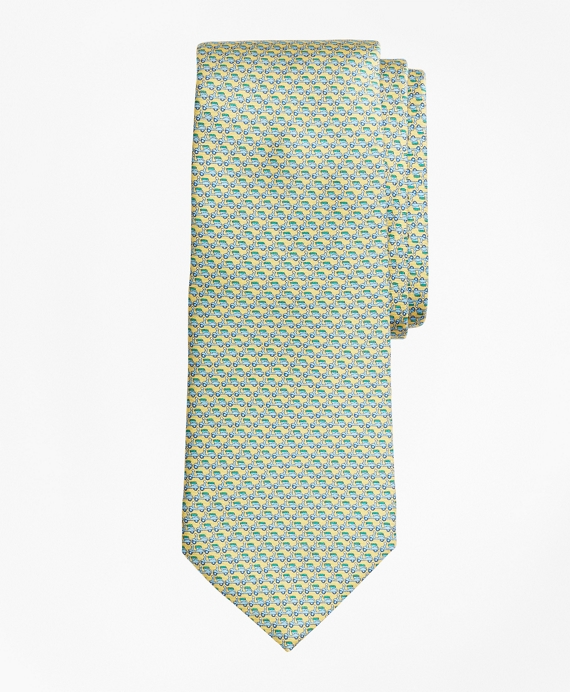 Scooter Motif Print Tie Yellow