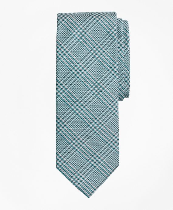 Glen Plaid Tie Aqua