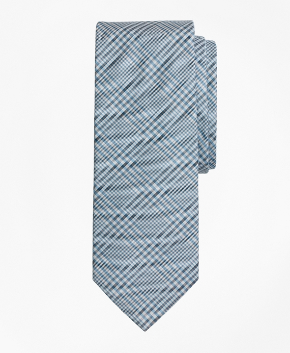 Glen Plaid Tie Light Blue