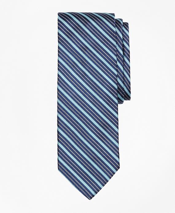 Track Stripe Tie Aqua