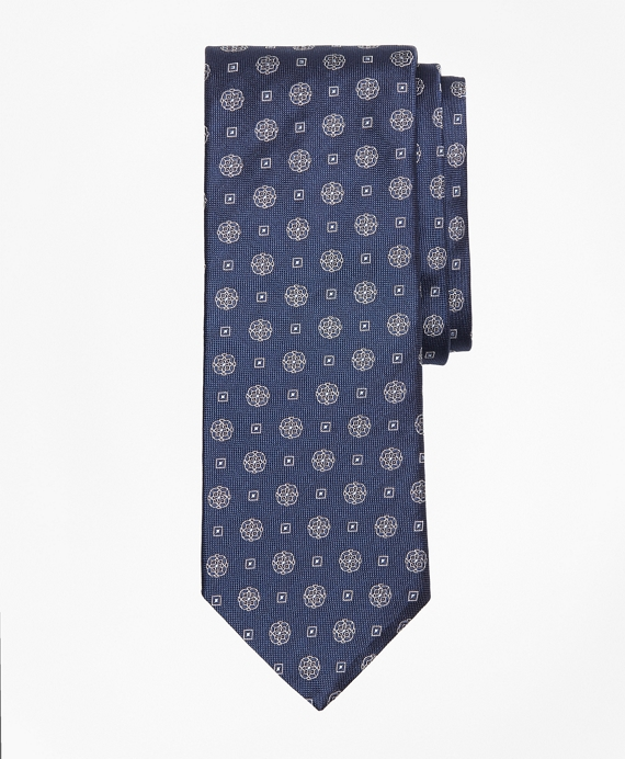 Medallion Square Tie Navy