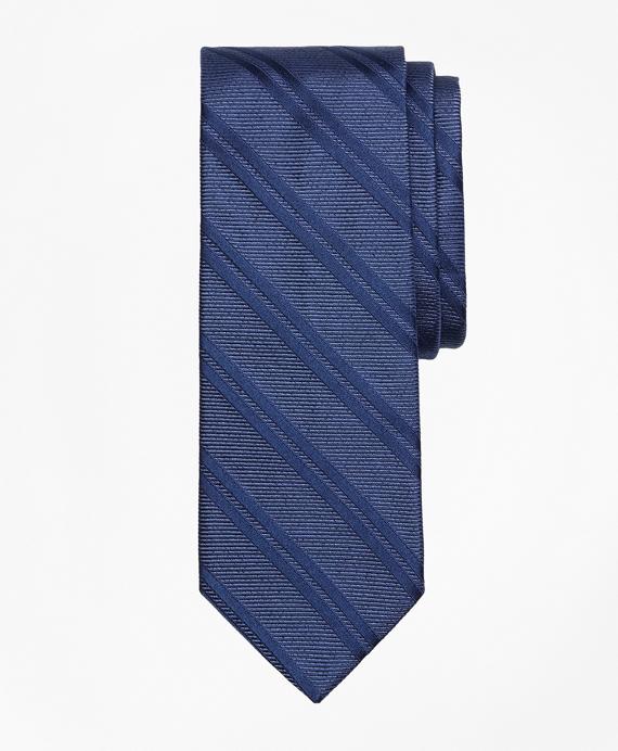 Heathered Double Stripe Tie Navy