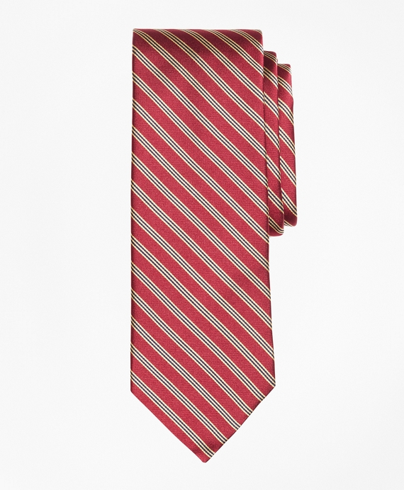 BB#1 Stripe 200th Anniversary Limited-Edition Tie Burgundy-Gold