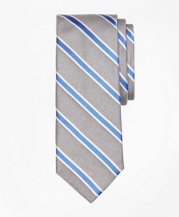 BB#2 Stripe Oxford  Tie Grey