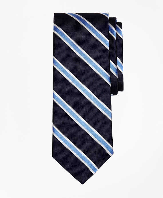 BB#2 Stripe Oxford  Tie Navy