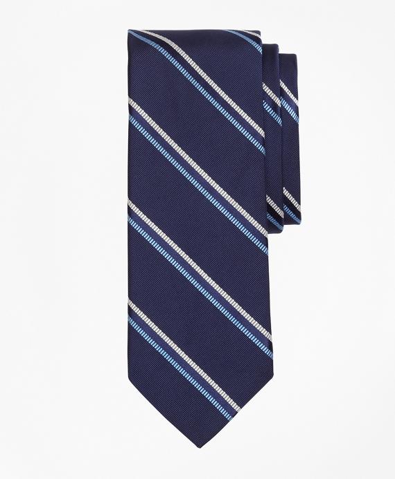 Mogador Double-Stripe Tie Navy