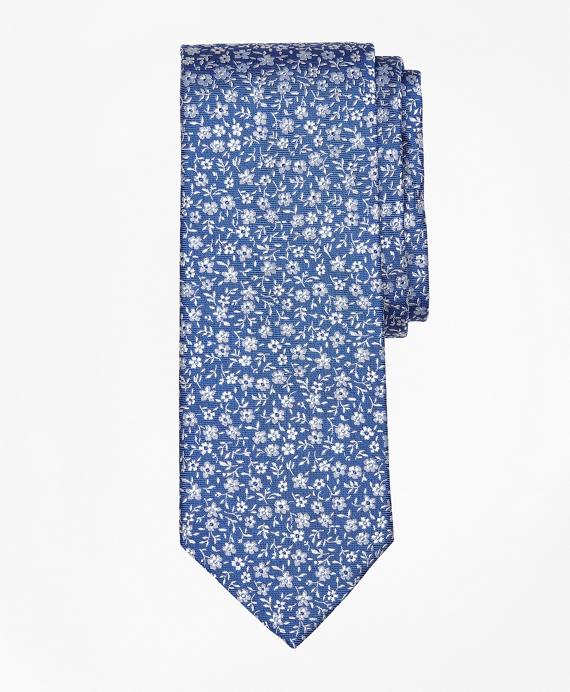 Ditzy Flower Tie Blue