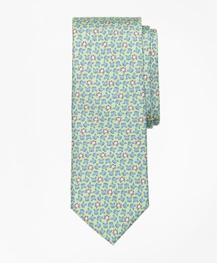 Frog Motif Print Tie