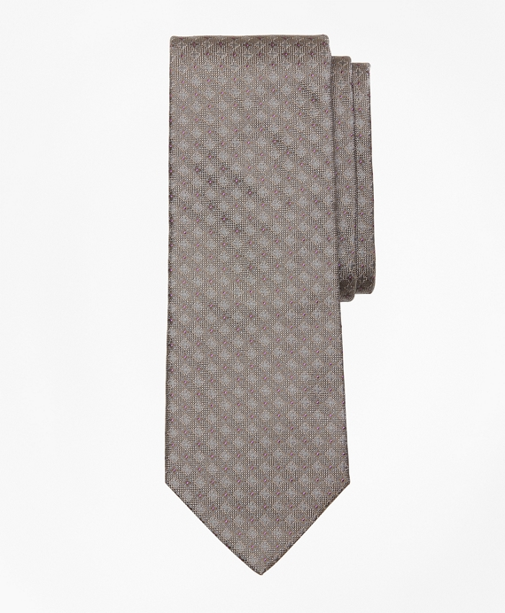 Dotted Flower and Diamond Tie Grey