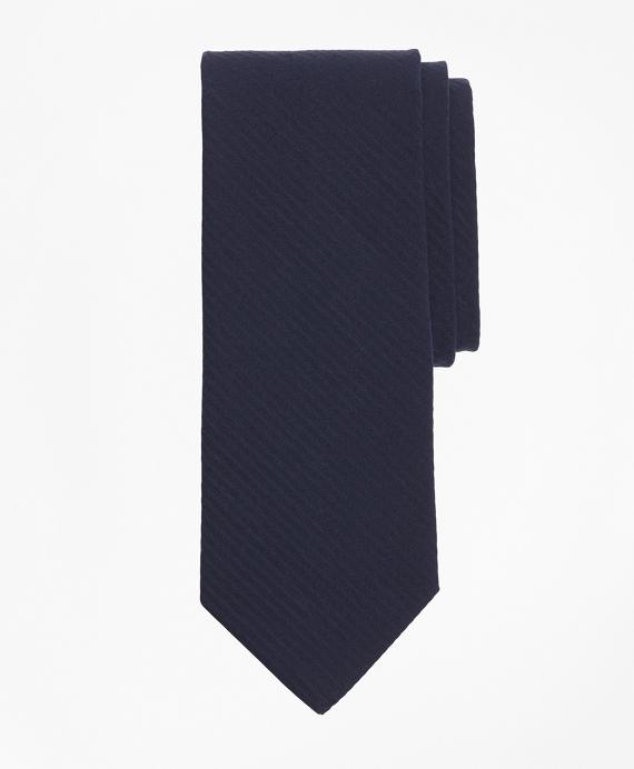 Seersucker Tie Navy