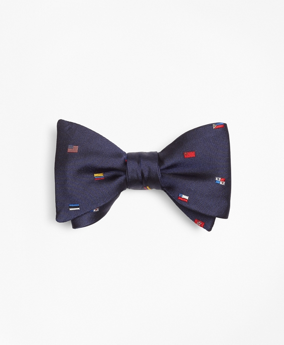 Global Flags Bow Tie Navy