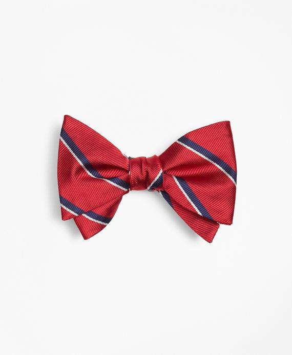 Sidewheeler Stripe Bow Tie Red