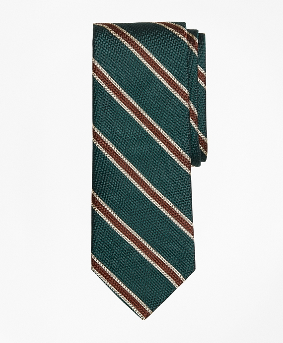 Textured BB#2 Stripe Tie Green