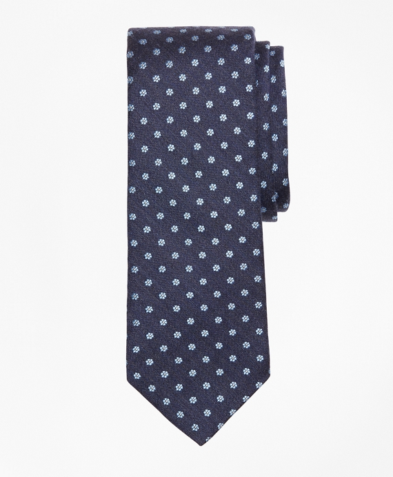 Mini-Flower Tie Navy