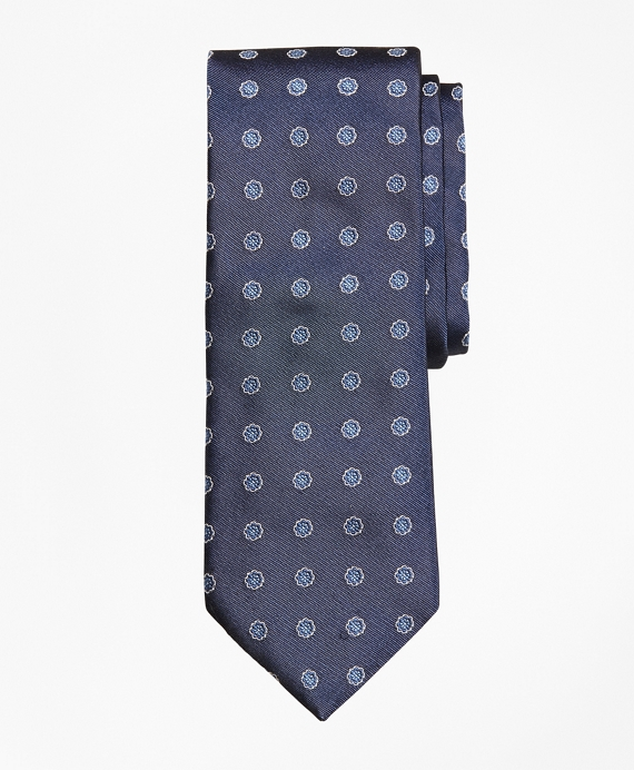 Framed Flower Tie Blue