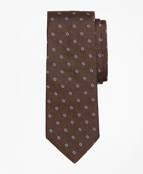 Four-Petal Square Medallion Tie Brown