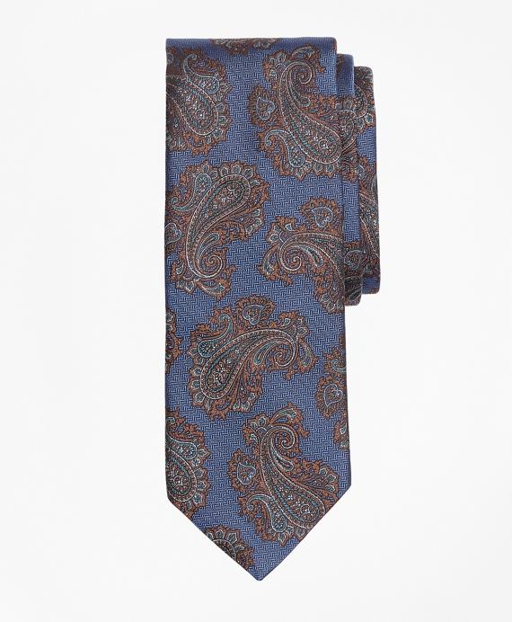 Large Paisley Tie Blue