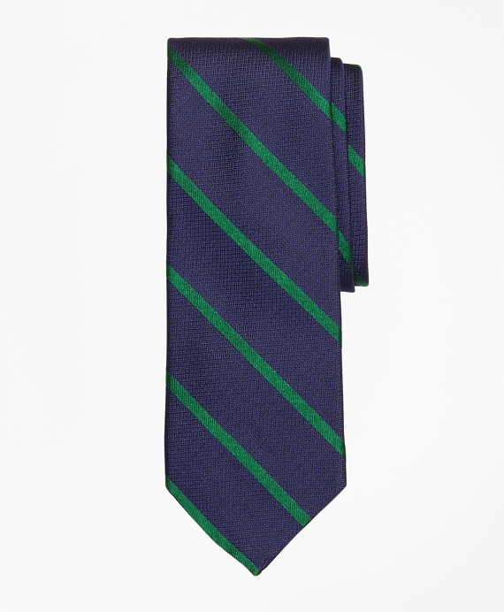 Textured Bar Stripe Tie Green
