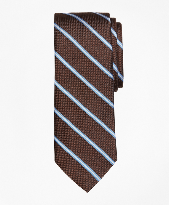 Parquet Stripe Tie Brown