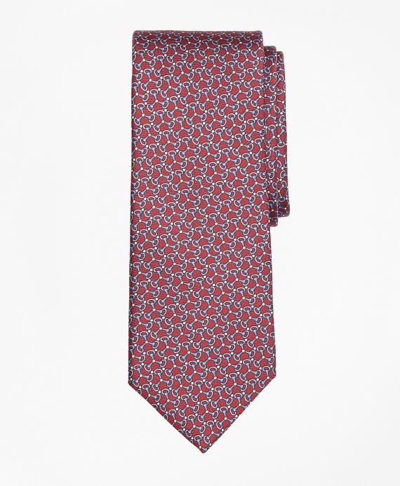 Triple Link Print Tie Red